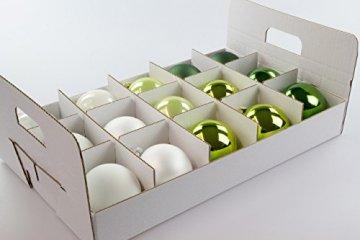 Quality-Collection Weihnachtskugel Box, Christbaumkugel Box, Christbaumschmuck und Deko (47 Liter) - 3