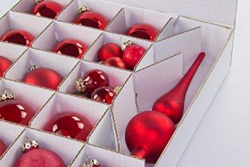 Quality-Collection Weihnachtskugel Box, Christbaumkugel Box, Christbaumschmuck und Deko (47 Liter) - 4