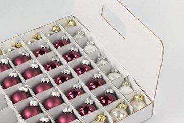Quality-Collection Weihnachtskugel Box, Christbaumkugel Box, Christbaumschmuck und Deko (47 Liter) - 5