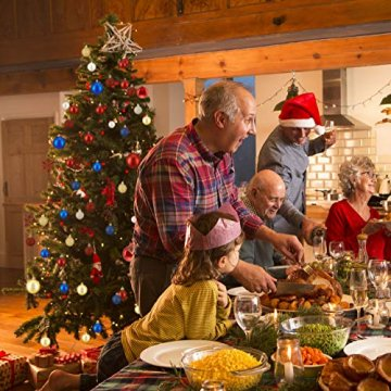 Relaxdays Weihnachtskugeln, 100er Set, Weihnachtsdeko, matt, glänzend, glitzernd, Christbaumkugel ∅ 3,4 & 6 cm, Gold, PS, 7 x 6 x 6 cm - 3
