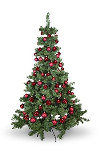 Riffelmacher 69581 Christbaumkugeln für Weihnachten, Baumkugeln aus Glas 31-teilig, Rot - 2