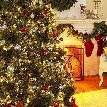 Rongyuxuan 48 stücke Christbaumkugeln Silber Bruchsichere Baumkugeln Ornamente Personalisierte Glänzende Weihnachten Hängende Dekoration für Festival Party (4-6 cm) - 8