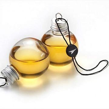 Sansee 6 Pack Schnaps gefüllt Weihnachtsbaum Ornamente Wasserflasche Milch Saft Birnen Tasse (A) - 3