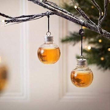 Sansee 6 Pack Schnaps gefüllt Weihnachtsbaum Ornamente Wasserflasche Milch Saft Birnen Tasse (A) - 1