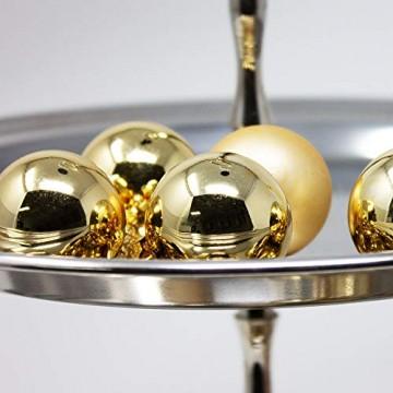 ToCi Mini Weihnachtskugeln Glas - 18er-Sets kleine Christbaumkugeln Ø3cm - Baumschmuck farblich Sortiert glänzend matt Weihnachten Deko Anhänger (Gold - Matt - Glänzend) - 5