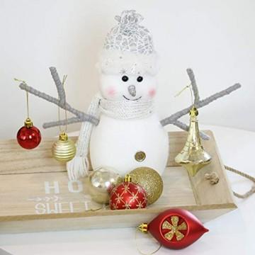 Valery Madelyn Weihnachtskugeln 100 TLG 3-13cm Kunststoff Christbaumkugeln zur Weihnachtsdekoration mit Weihnachtsbaumspitze und Aufhänger Weihnachtsdeko Thema Rot Gold MEHRWEG Verpackung - 6