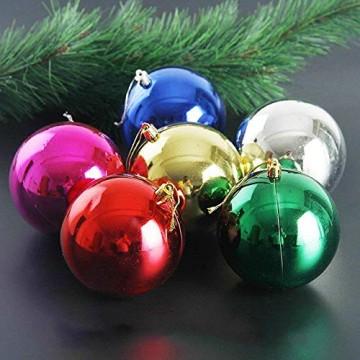 Wohlstand 72-teilig Weihnachtskugel-Set Weihnachtskugeln Baumschmuck Weihnachten Deko Anhänger modisch Glänzend Bruchsiche Weihnachtskugeln Winter Wünsche Weihnachten - 3