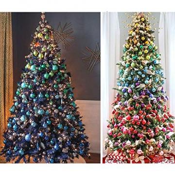 Wohlstand 72-teilig Weihnachtskugel-Set Weihnachtskugeln Baumschmuck Weihnachten Deko Anhänger modisch Glänzend Bruchsiche Weihnachtskugeln Winter Wünsche Weihnachten - 5