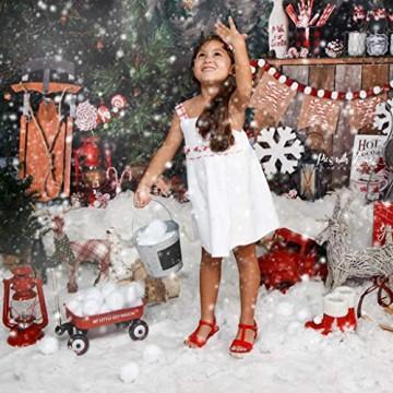 XinqinDing 24 pcs Künstliche Schneebälle Mit Turnbeutel,Schneeball,Christbaumkugeln Weiß 5cm Schneeball Kunststoff Weihnachtskugeln,Winter Deko,Indoor Schneeballschlacht,Stoffbälle,Kindergeburtstag - 7