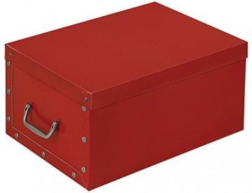 XXL Dekokarton in Rot - formschön und hochwertig. Mit Einsätzen für max. 40 Christbaumkugeln oder Weihnachtsdeko. Karton aus stabiler Pappe in Rot mit Griffen aus Kunststoff! Topp - 2
