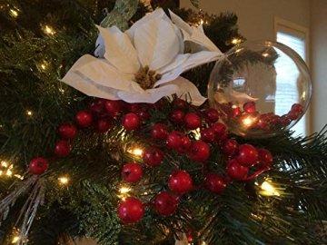 Youseexmas Weihnachtskugel Christbaumkugeln Glaskugel Hängend ,Durchmesser 10cm 4stk (MEHRWEG) - 2