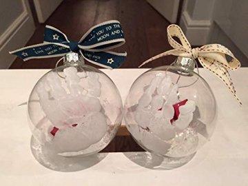 Youseexmas Weihnachtskugel Christbaumkugeln Glaskugel Hängend ,Durchmesser 10cm 4stk (MEHRWEG) - 3