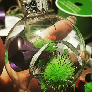 Youseexmas Weihnachtskugel Christbaumkugeln Glaskugel Hängend ,Durchmesser 10cm 4stk (MEHRWEG) - 4