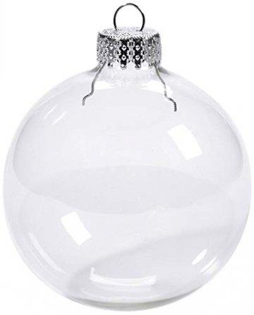 Youseexmas Weihnachtskugel Christbaumkugeln Glaskugel Hängend ,Durchmesser 10cm 4stk (MEHRWEG) - 1