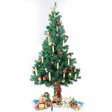 10/20/ 30/40 er Weinachten LED Kerzen Lichterkette Kerzen Weihnachtskerzen Weihnachtsbaum Kerzen mit Fernbedienung Kabellos (Beige, 30er) - 5