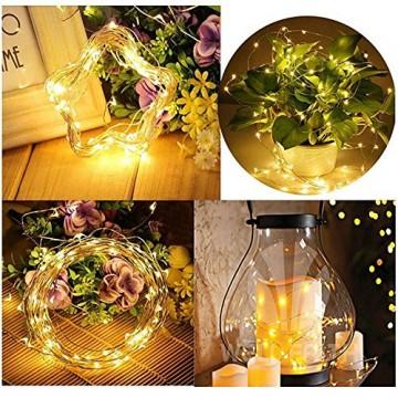 10 Pack LED Flaschenlicht Deko - 2M 20 LED Lichterkette Batterie, Led Korken mit LED Lichterkette für Flasche, Tischdeko Geburtstag, Weihnachten, Hochzeit, Valentinstag, Dekoration Wohnung - 4
