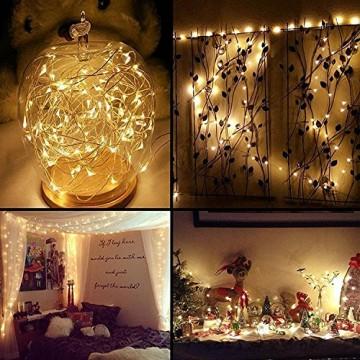 10 Pack LED Flaschenlicht Deko - 2M 20 LED Lichterkette Batterie, Led Korken mit LED Lichterkette für Flasche, Tischdeko Geburtstag, Weihnachten, Hochzeit, Valentinstag, Dekoration Wohnung - 7