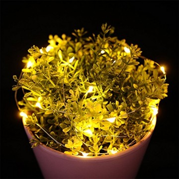 10 Pack LED Flaschenlicht Deko - 2M 20 LED Lichterkette Batterie, Led Korken mit LED Lichterkette für Flasche, Tischdeko Geburtstag, Weihnachten, Hochzeit, Valentinstag, Dekoration Wohnung - 9