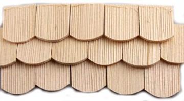 100 St Schindel aus Fichtenholz abgerundet. Zum Krippenbau, Puppenstuben. 30x22 mm. - 1