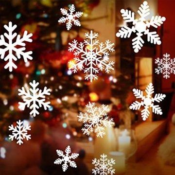 108 Fensterdeko Schneeflocken Schneeflocken Fensterbilder Abnehmbare Fensterdeko Statisch Haftende PVC Aufkleber für Weihnachts-Fenster Dekoration, Türen ,Schaufenster, Vitrinen, Glasfronten - 5