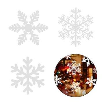108 Fensterdeko Schneeflocken Schneeflocken Fensterbilder Abnehmbare Fensterdeko Statisch Haftende PVC Aufkleber für Weihnachts-Fenster Dekoration, Türen ,Schaufenster, Vitrinen, Glasfronten - 6