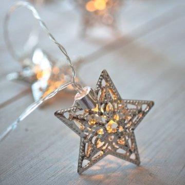 16er LED Lichterkette Stern LED Deko Weihnachts Deko warmweiß mit 24V Netzteil - 3
