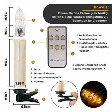 20/30/40er LED Lichterkette Kabellos Weihnachtskerzen Christbaumschmuck Weihnachtsbaumbeleuchtung 30*milchweisse Hülle - 2