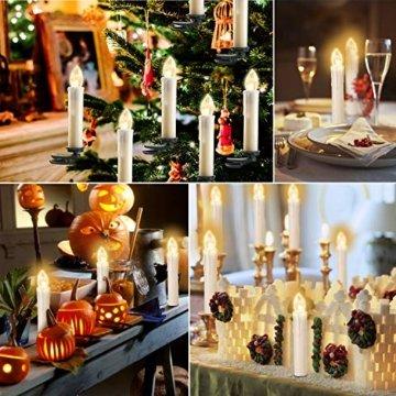 20/30/40er LED Lichterkette Kabellos Weihnachtskerzen Christbaumschmuck Weihnachtsbaumbeleuchtung 30*milchweisse Hülle - 3