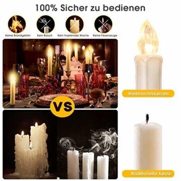 20/30/40er LED Lichterkette Kabellos Weihnachtskerzen Christbaumschmuck Weihnachtsbaumbeleuchtung 30*milchweisse Hülle - 5