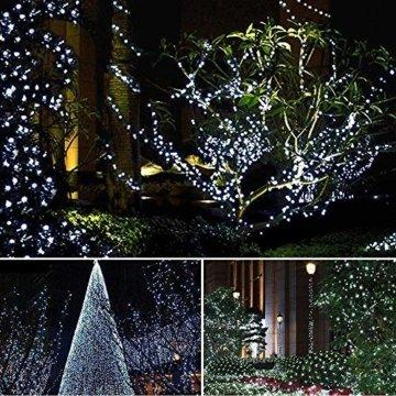 200 LED Lichterkette Außen BrizLabs Kaltweiss Weihnachten Außenbeleuchtung 22M 8 Modi Wasserdicht Weihnachtsbeleuchtung für Outdoor Garten Hochzeit Party Baum Innen Halloween Deko - 4