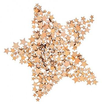 200 Stücke Holzsterne Blank Holz Stern Scheiben Mini Stern Verschönerungen für Hochzeit Handwerk Making DIY, Gemischt 4 Größen - 7