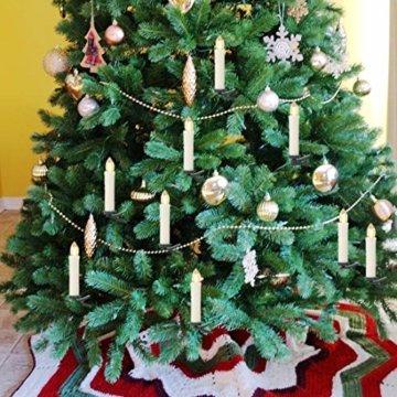 20er LED Kerzen,EXTSUD LED Weihnachtskerzen mit Batterien&Fernbedienung, IP64 Dimmbar Kerzenlichter Warmweiß Flammenlose Kerzen für Weihnachtsbaum,Weihnachtsdeko,Hochzeitsdeko,Geburtstags,Party - 6