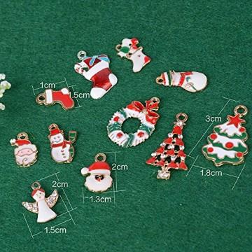 30 Stk. Mini Anhänger Weihnachten Deko für Weihnachtsgeschenke DIY Handwerk Bonboniere Hochzeit Geschenkbox Gastgeschenk usw. - 2