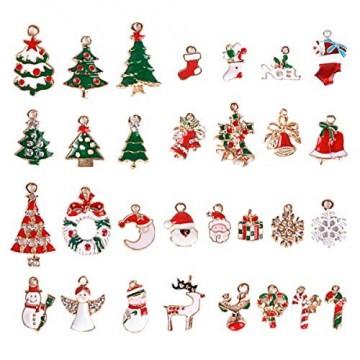 30 Stk. Mini Anhänger Weihnachten Deko für Weihnachtsgeschenke DIY Handwerk Bonboniere Hochzeit Geschenkbox Gastgeschenk usw. - 1