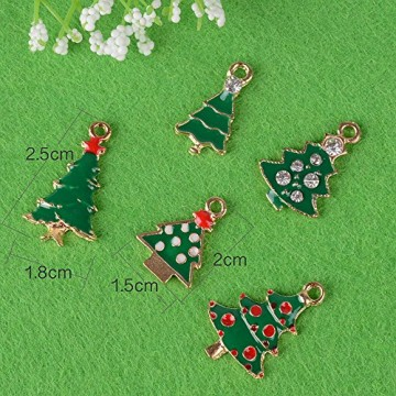 30 Stk. Mini Anhänger Weihnachten Deko für Weihnachtsgeschenke DIY Handwerk Bonboniere Hochzeit Geschenkbox Gastgeschenk usw. - 5