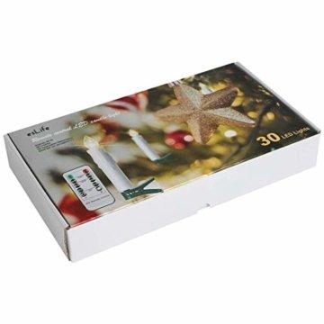 30er LED Kerzen Timer mit Fernbedienung, Weihnachtskerzen, IP64 Dimmbar Kerzenlichter Flammenlose Weihnachtskerzen für Weihnachtsbaum, Weihnachtsdeko, Hochzeit, Geburtstags, Party - 6