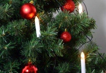 30er LED Lichterkette Weihnachtsbaumbeleuchtung für Innen Christbaumkerzen XMAS - 2