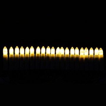 30er LED Lichterkette Weihnachtsbaumbeleuchtung für Innen Christbaumkerzen XMAS - 4