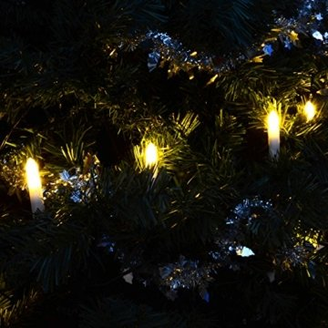 30er LED Lichterkette Weihnachtsbaumbeleuchtung für Innen Christbaumkerzen XMAS - 5