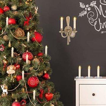 30er LED Weihnachtskerzen mit Fernbedienung Timer AA-Batterien Dimmbar, Christbaumkerzen Kabellose Weihnachtsbaumkerzen für Weihnachtsbaum Weihnachtsdeko Hochzeit - 2