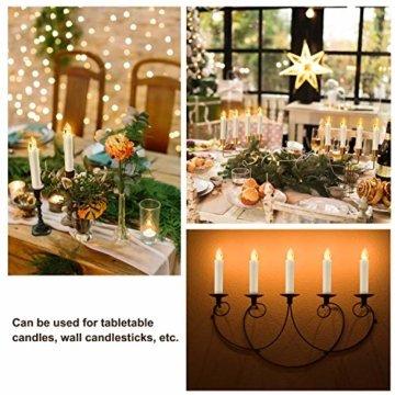 30er LED Weihnachtskerzen mit Fernbedienung Timer AA-Batterien Dimmbar, Christbaumkerzen Kabellose Weihnachtsbaumkerzen für Weihnachtsbaum Weihnachtsdeko Hochzeit - 4