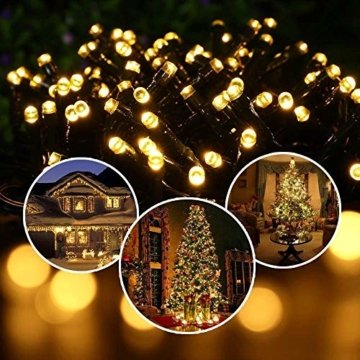30M Warmes Weiß 300 LEDs 8 Modi-Lichterketten für Weihnachtsbaum, Garten, Party und Weihnachtsdekoration - 2