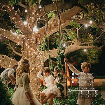 30M Warmes Weiß 300 LEDs 8 Modi-Lichterketten für Weihnachtsbaum, Garten, Party und Weihnachtsdekoration - 3