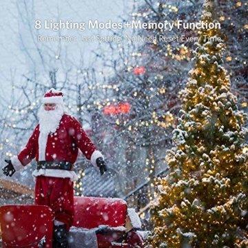 30M Warmes Weiß 300 LEDs 8 Modi-Lichterketten für Weihnachtsbaum, Garten, Party und Weihnachtsdekoration - 5