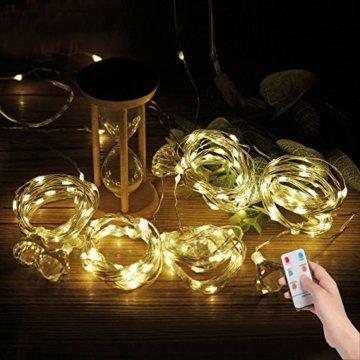 3*3m 300er LED Diamant Lichtvorhang Fernbedienung Home Dekorations Licht IP44 wasserfest Kupferkabel LED Lichterketten für Weihnachten / Deko / Party, Weihnachtsbeleuchtung, Hochzeit usw - Warmweiß - 7