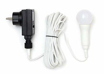 3D Leuchtstern / mit warm-weißer LED Beleuchtung / für Innen und Außen geeignet / hängend / 7,5 m Zuleitung / ca. 57x44x48 cm (Weiß) - 3