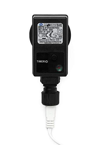 3D Leuchtstern / mit warm-weißer LED Beleuchtung / für Innen und Außen geeignet / hängend / 7,5 m Zuleitung / ca. 57x44x48 cm (Weiß) - 4