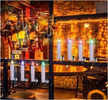 40/30/20/10x Set LED Kerzen Weihnachtskerzen RGB&Warmweiß mit Batterien Fernbedienung Timer IP64 Wasserdicht inkl. Klammer Saugnapf Steckdrne für Auß-Innen Weihnachten Weihnachtsbaum Hochzeit Partys - 3
