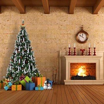 40/30/20/10x Set LED Kerzen Weihnachtskerzen RGB&Warmweiß mit Batterien Fernbedienung Timer IP64 Wasserdicht inkl. Klammer Saugnapf Steckdrne für Auß-Innen Weihnachten Weihnachtsbaum Hochzeit Partys - 9