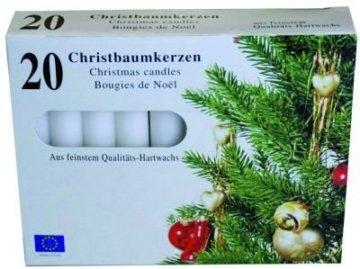 40 Christbaumkerzen - Baumkerzen - weiß - 1